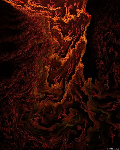 see 'Mountains of fire' at deviantART