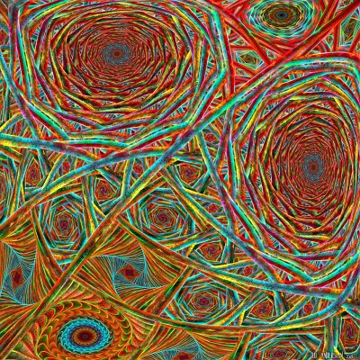 see 'My psychedelic webs' at deviantART
