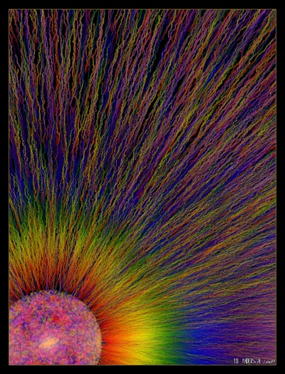 see 'Rainbow Sun' at deviantART
