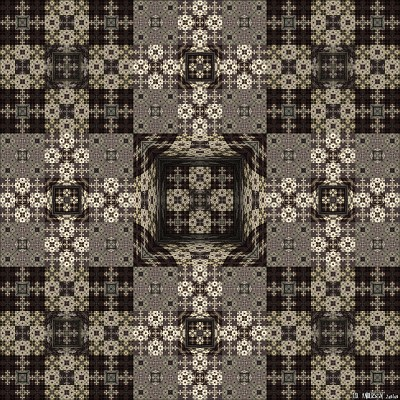 see 'Experiments in tiling #2: trompe l'oeil' at deviantART