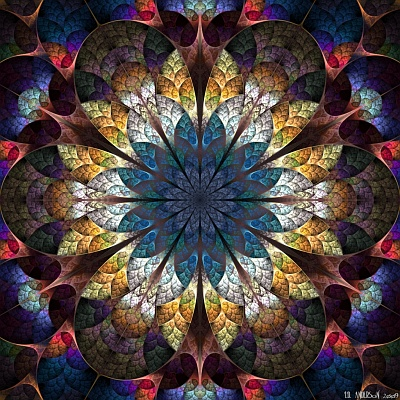 see 'The mandala of unfolding' at deviantART